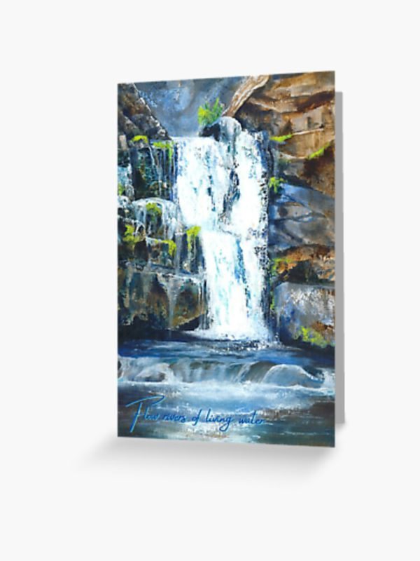 living waters greeting-card